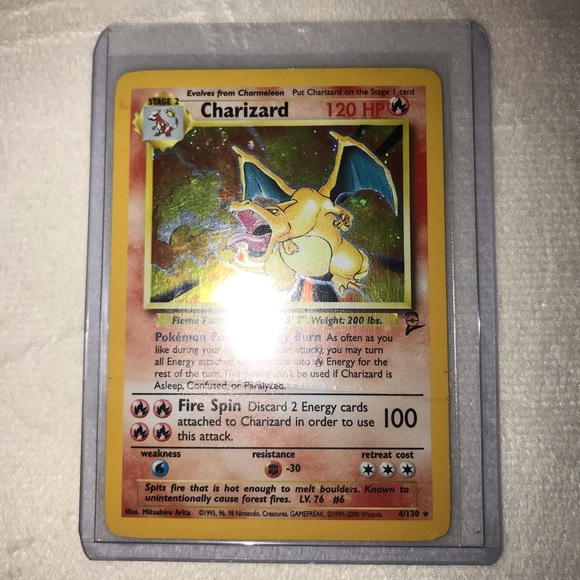 Pokémon TCG Charizard Base Set 2 Holo Swirl